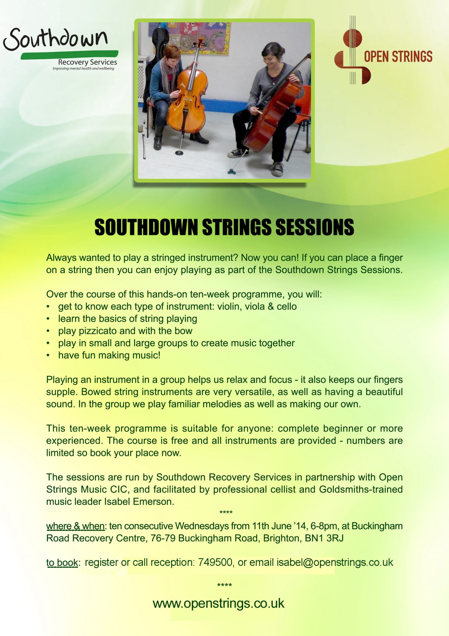Southdown Strings Sessions New Music And Mental Health Project