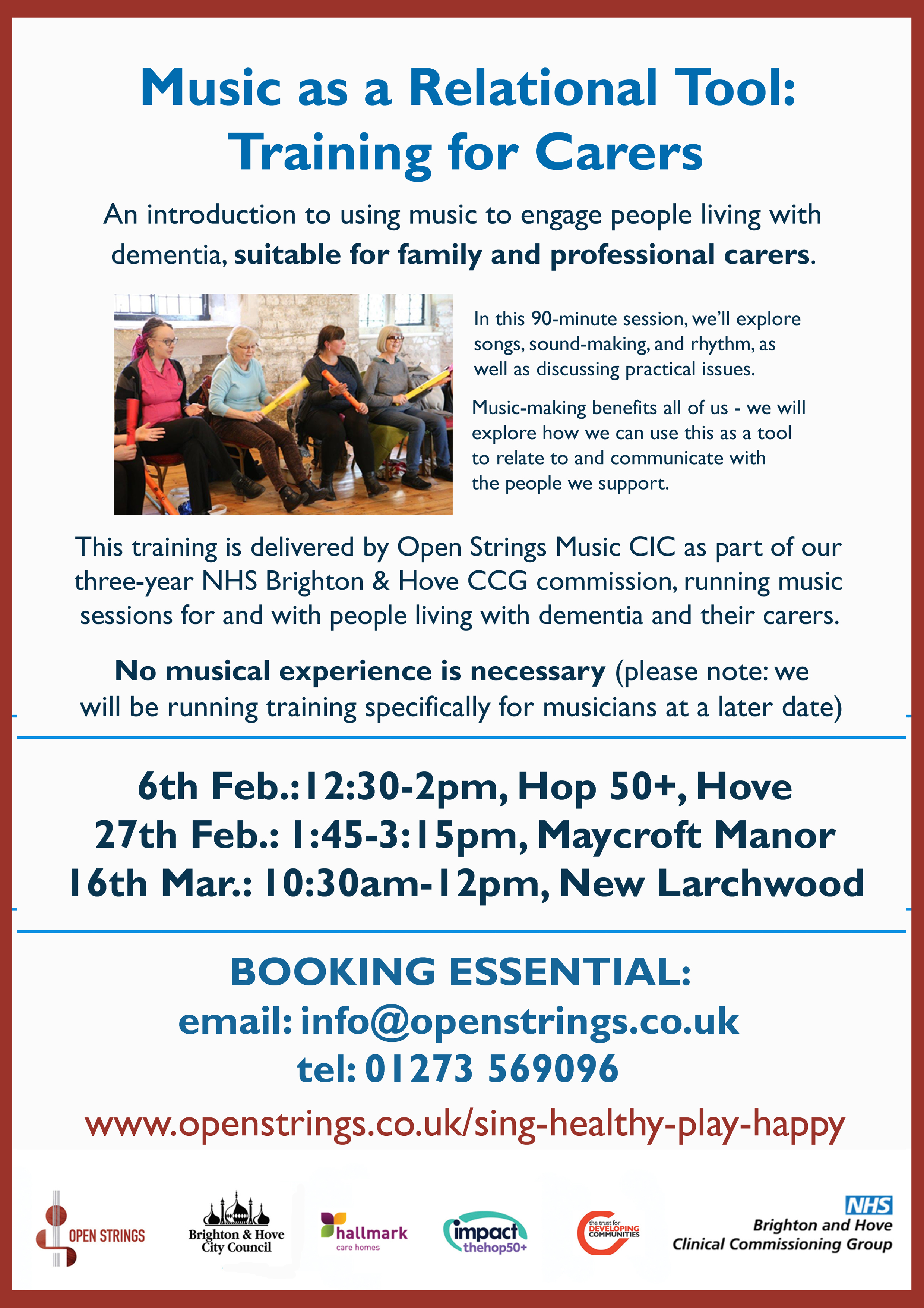 Music-making training for carers, Spring '18 – Open Strings