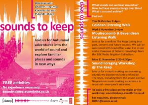 Sound To Keep Poster (Front and Back)